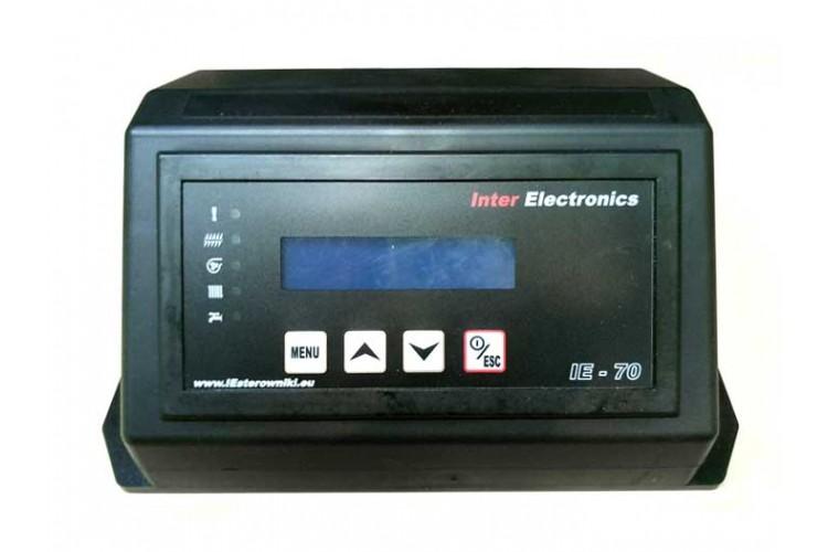 Блок управления для твердотопливного котла Inter Electronics IE-70 v2 T2 два насоса