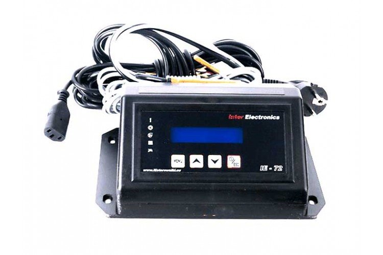 Блок управления для твердотопливного котла Inter Electronics IE-72 PID v4 T2 три насоса