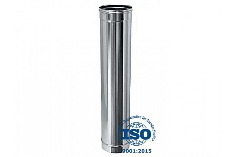 Дымоход из нержавеющей стали 0,5 м, Ø 100 мм, 0,6 мм