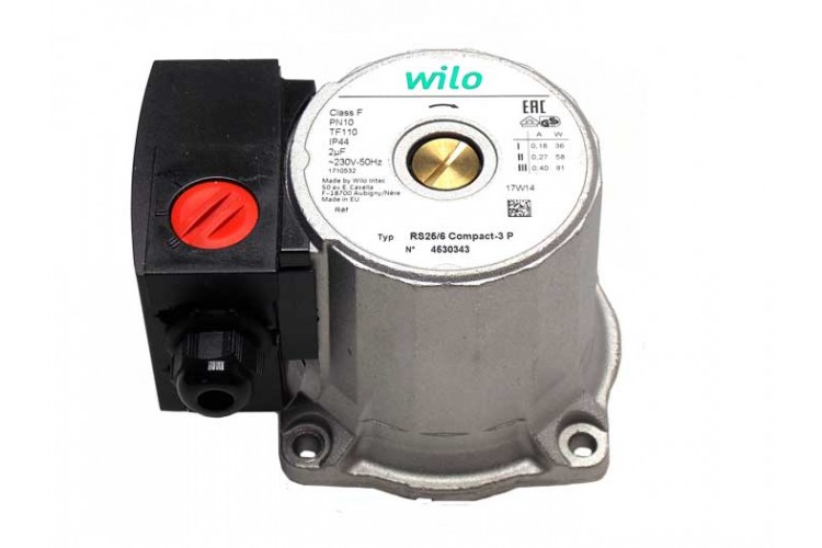Голова насоса Wilo RS 25/6-3 P (вн. диаметр 30 мм.)