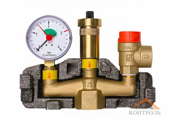 Группа безопасности с изоляцией Afriso KSG 50 для котлов до 50 кВт, 2,5 бар