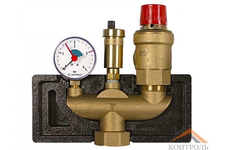 Группа безопасности с изоляцией Afriso KSG magnum 350 для котлов до 350 кВт