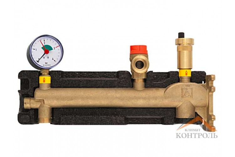 Группа безопасности с изоляцией Afriso GAK 50 с соединением для расширительного бака (до 50 л) для котлов до 50 кВт