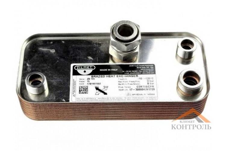 Вторичный (ГВС) теплообменник для котла Nobel NB2 24/28 SE 15 пластин