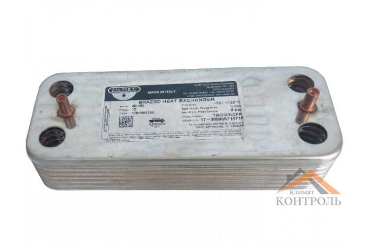Вторичный (ГВС) теплообменник Protherm Пантера v15, v17 12 пластин