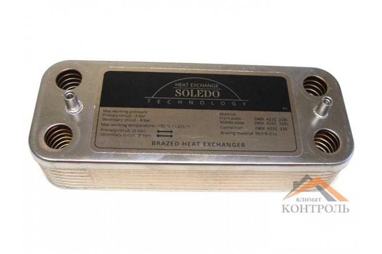 Пластинчатый теплообменник для котла Ariston UNO 14 пластин