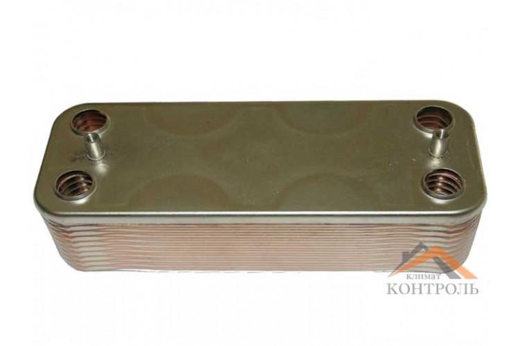 Вторичный (ГВС) теплообменник для котла Beretta Super Exclusive, CITY 14 пластин