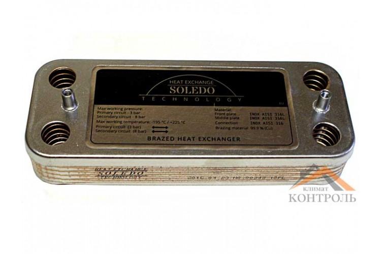 Пластинчатый теплообменник для котла Biasi Delta, Inovia, Rinnova, Nova Parva 10 пластин