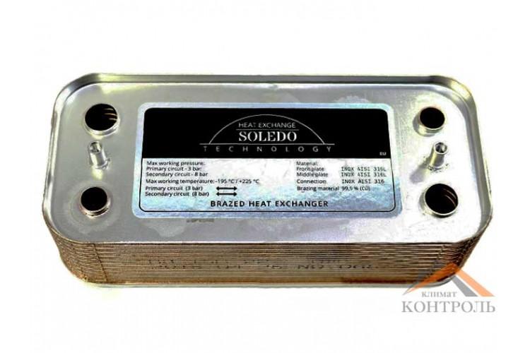 Пластинчатый теплообменник Immergas Major kw, Superior 16 пл.