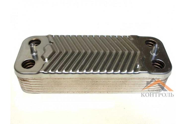 Пластинчатый теплообменник для котла Immergas Mini Eolo/Nike 3E, Victrix 26, Major Eolo 4E 14 пластин