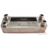 Теплообменник (ГВС) вторичный Vaillant Atmo Max, Turbo Max Pro/Plus 24 kw 12 пластин. 065131, 065088