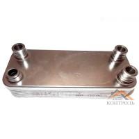 Теплообменник (ГВС) вторичный Vaillant Atmo Max, Turbo Max Pro/Plus 24 kw 14 пластин. 065131, 065088