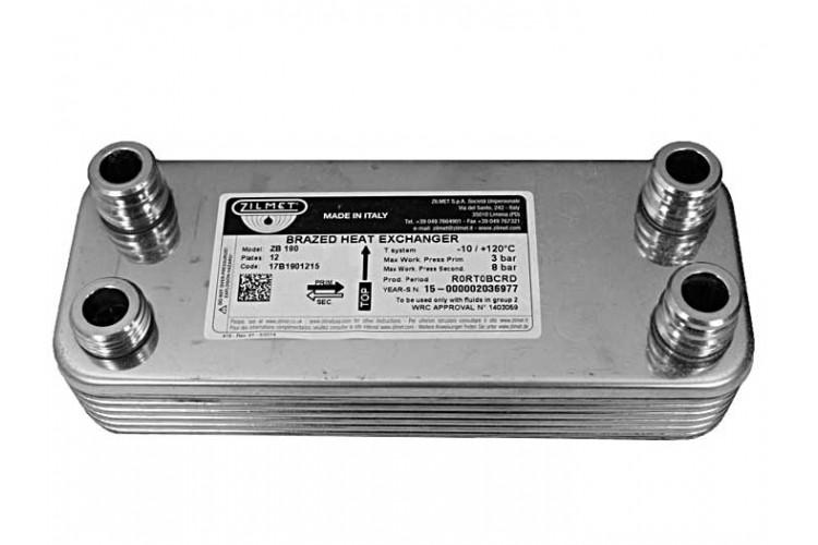 Вторичный (ГВС) теплообменник Vaillant Atmo Max, Turbo Max Pro/Plus 24 kw 12 пл.