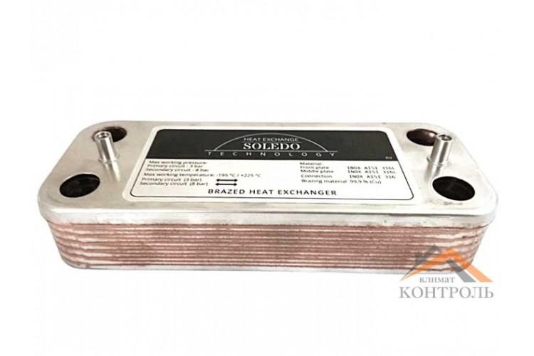 Пластинчатый теплообменник для котла Viessmann Vitopend 100 WH1B 12 пластин