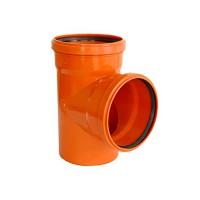 Тройник для наружной канализации 110/110х90° Инсталпласт