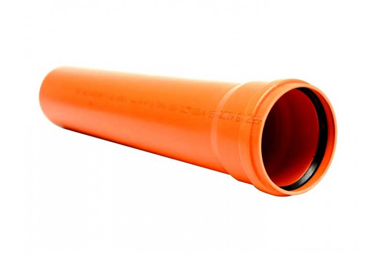 Труба для наружной канализации 110х3,2х1000 Инсталпласт