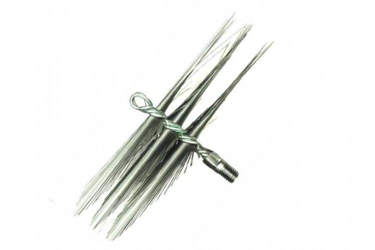 Щетка металлическая плоская для чистки дымохода люкс 300 мм